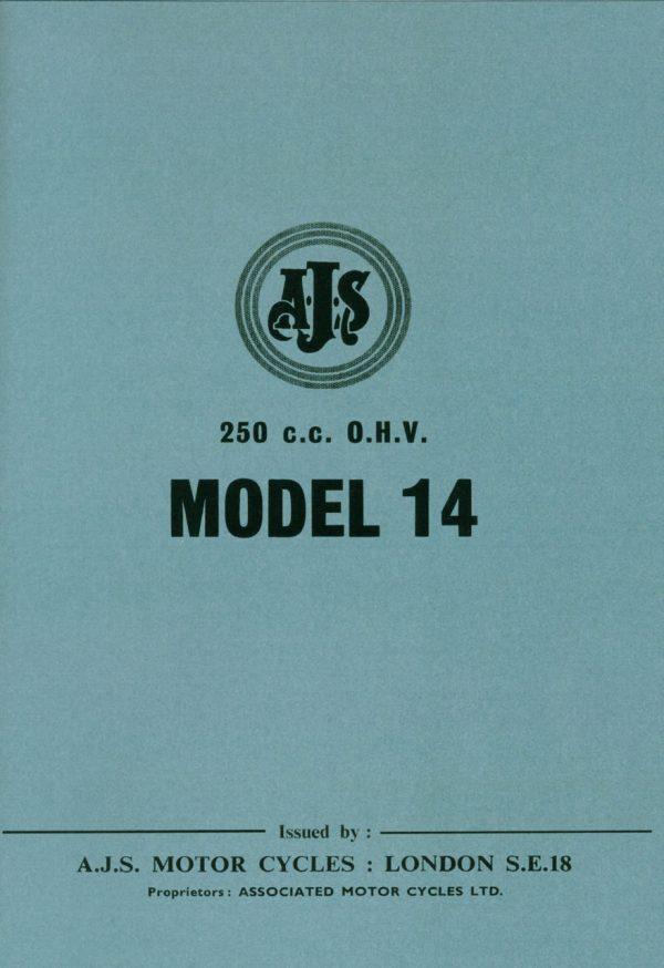 AJS 250 Model 14 Manual