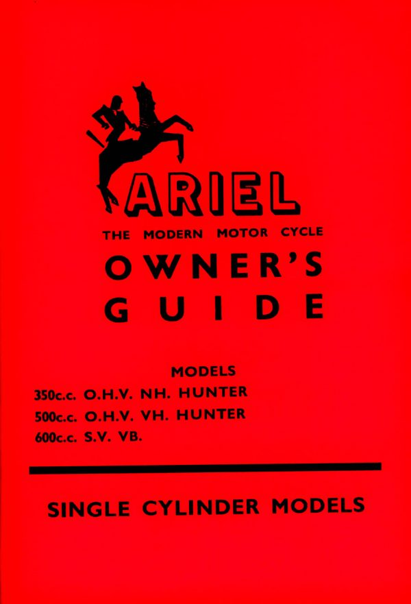 Ariel Red Hunter VB Manual 1956-1960