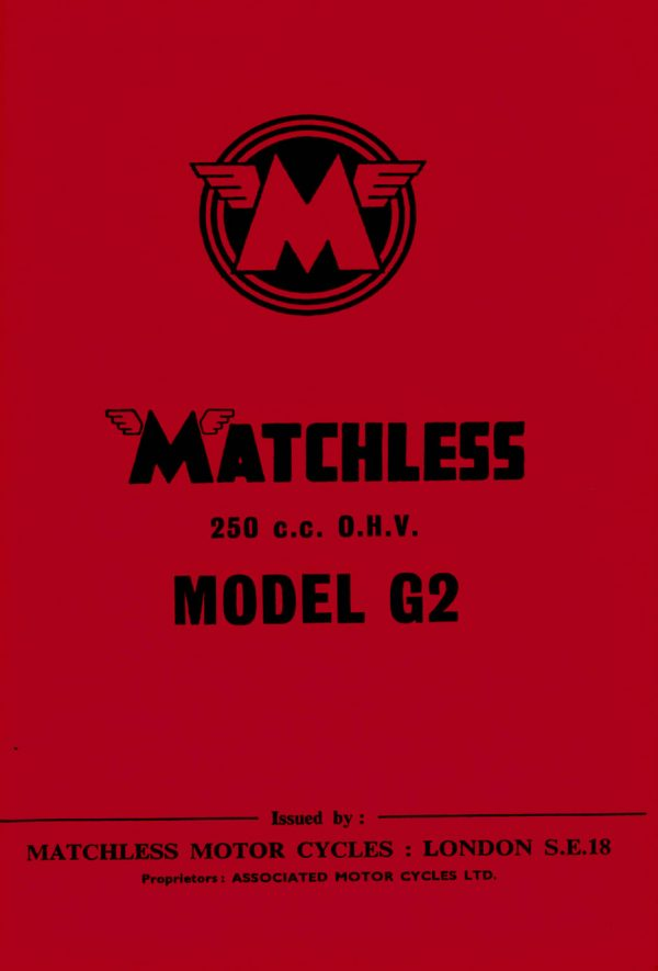 Matchless G2 Instruction Manual for 250 cc Motorcycles