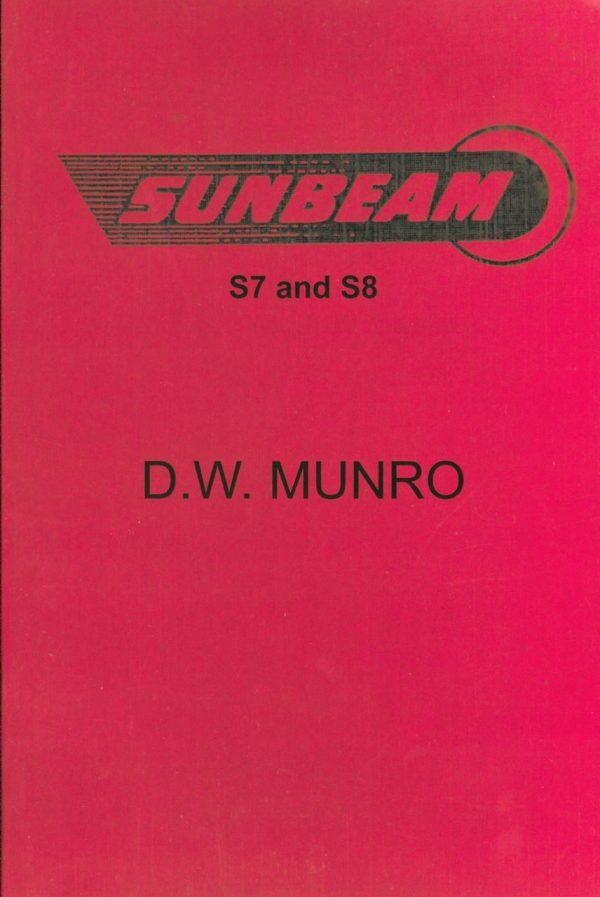 Sunbeam S7 S8 Munro Book