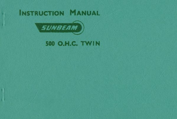 S7 and S8 Motorcycles Manual 1950
