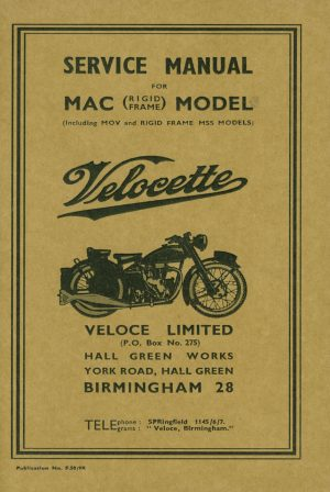 Velocette MAC Rigid Manual