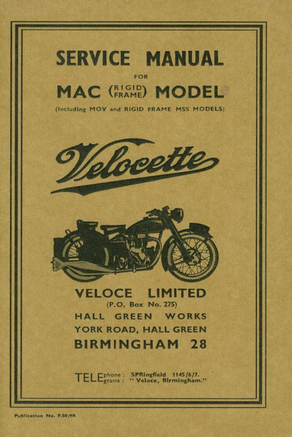 Velocette MAC Rigid Manual