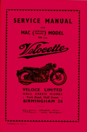 Velocette MAC Service Manual