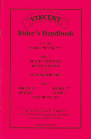 Vincent Motorcycle Riders Handbook