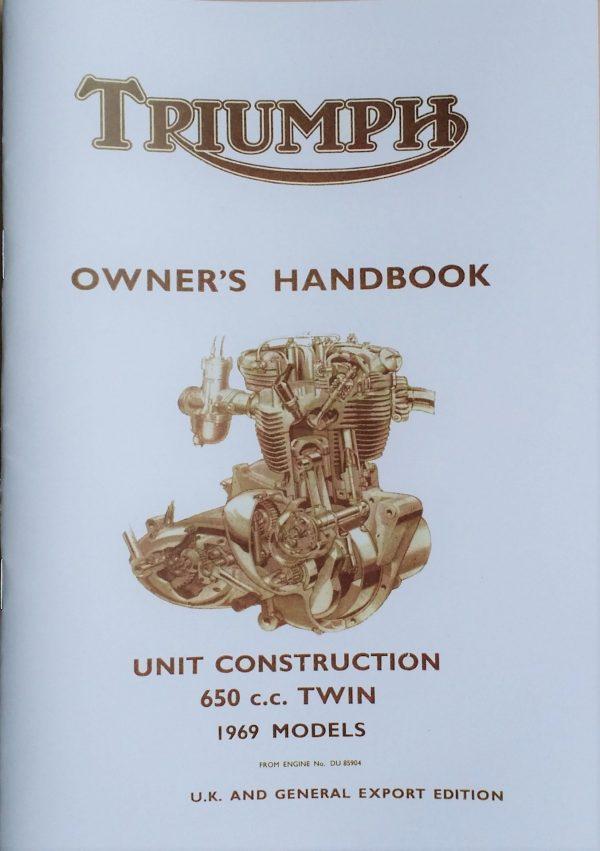 Triumph Owners Handbook 650 UK