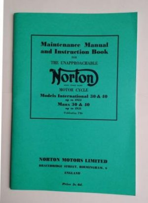Norton Manx Model 30 and 40