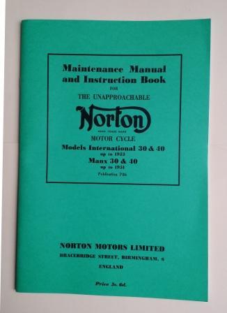 Norton Manx Model 30 and 40