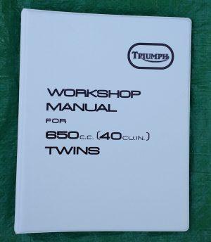 Triumph Workshop Manual 650 T120 Bonneville UK & USA TR6R Tiger Trophy