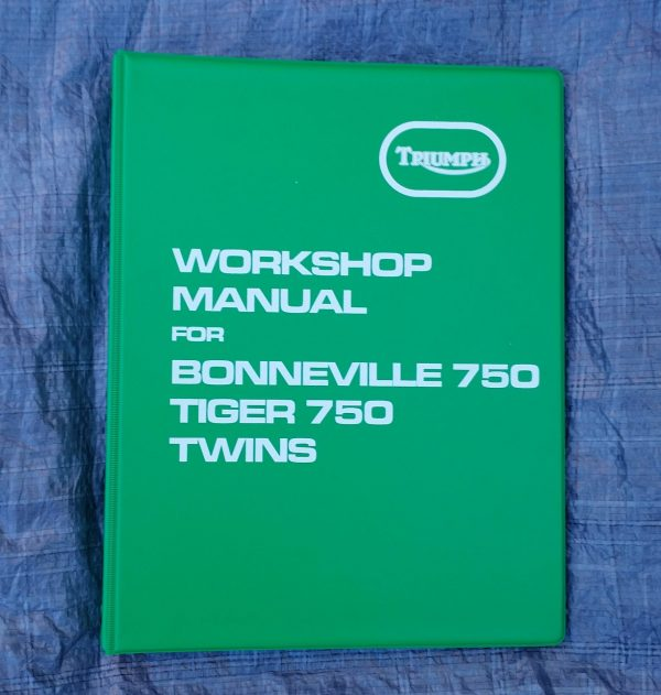 Triumph Workshop Manual T140V T140E Bonnneville TR7V Tiger1973-1978 Motorcycles