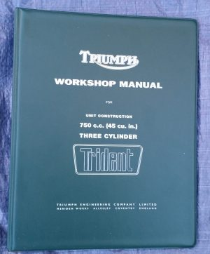 Triumph Workshop Manual T150 Trident Original Book