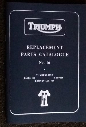 Triumph Pre unit 650 Parts Book