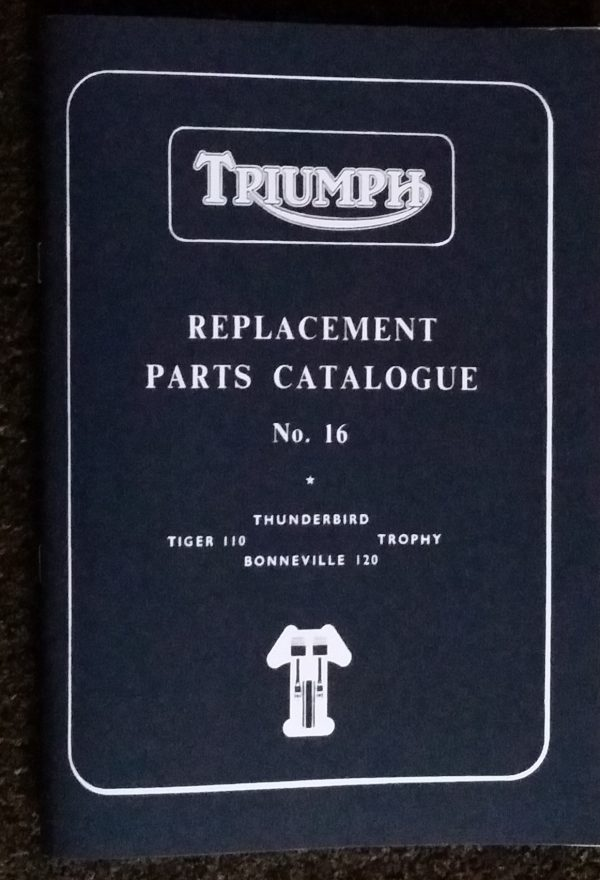 Triumph Pre unit 650 Parts Book