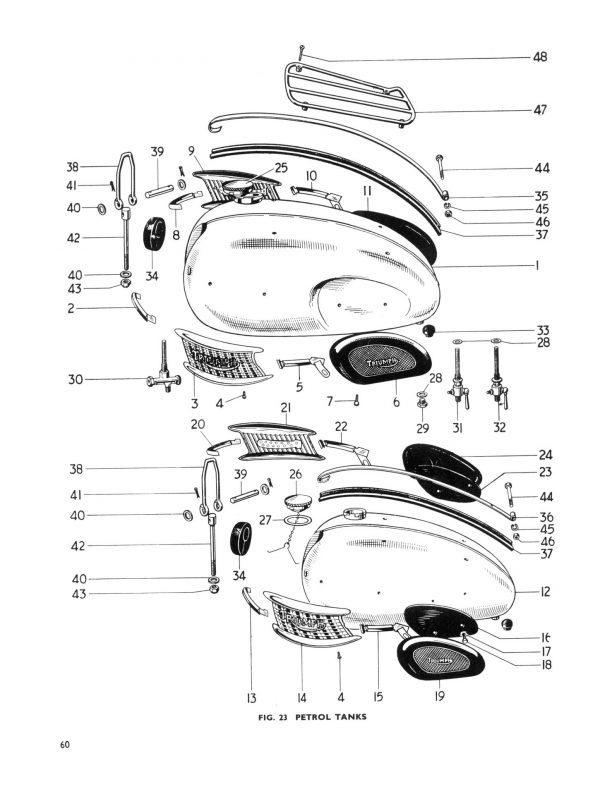 Triumph Parts Book 650 Pre Unit Twins
