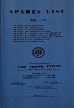 AJS Parts Book 1960