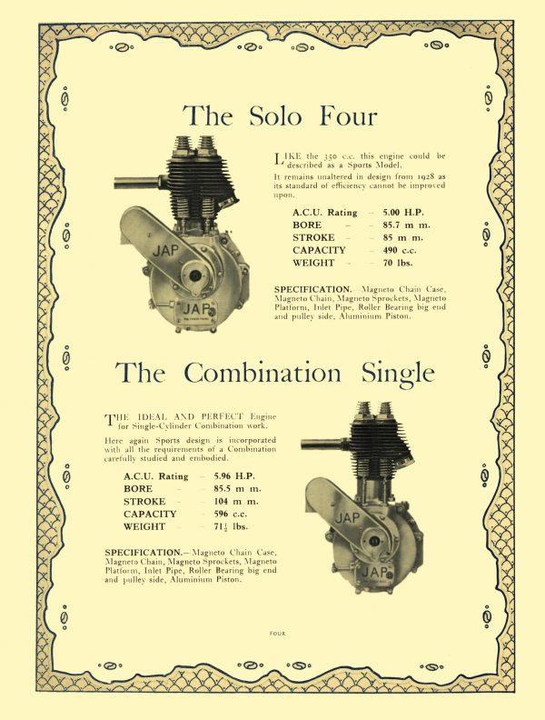 JAP Engines 1929