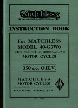 Matchless 40 G3WO Book