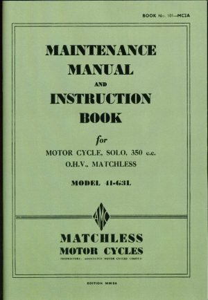 Matchless G3L WD Workshop Manual
