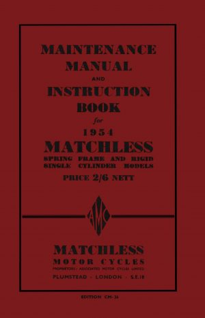 Matchless Singles Instruction Manual 1954