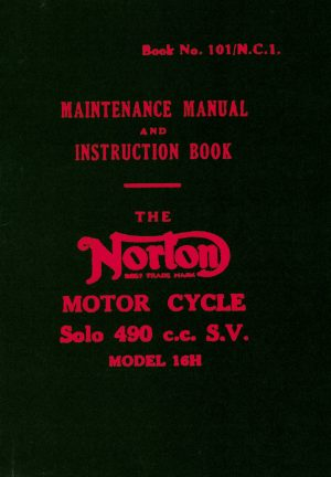 Norton 16H Solo 350 cc Motorcycle Manual