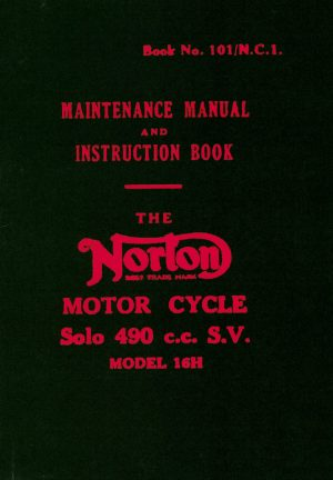 Norton 16H Maintenance Manual and Instruction Book