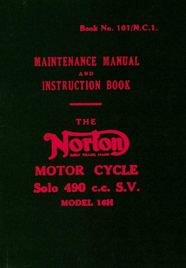 Norton 16H Maintenance Manual and Instruction Book