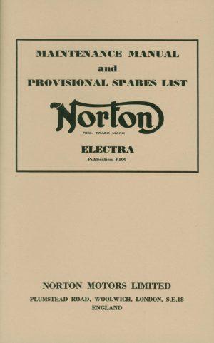 Norton Electra Maintenance Manual and Parts List
