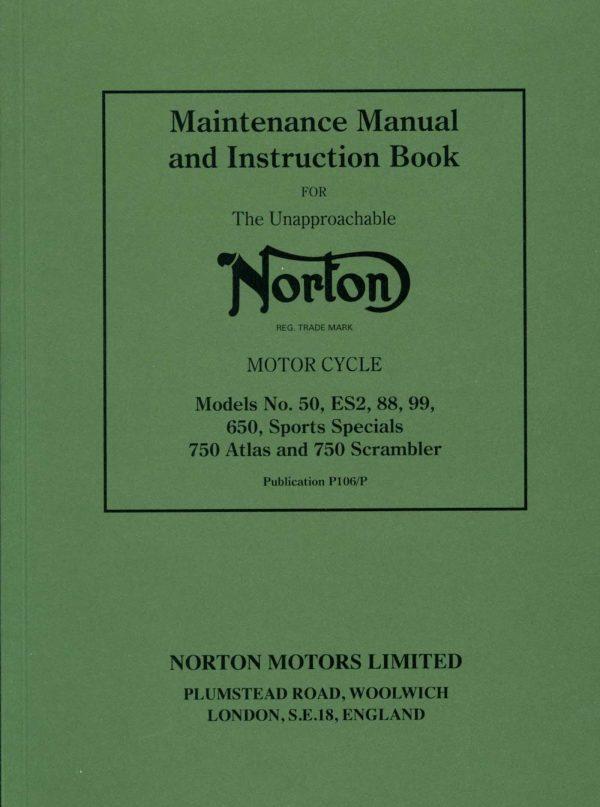 Norton Maintenance Manual ES2 88 99 650 750