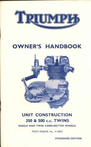 Triumph Owners Handbook 350 500 1967