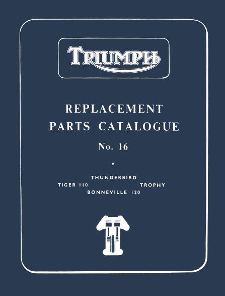 Triumph Pre Unit Parts Book 1959 to 1962