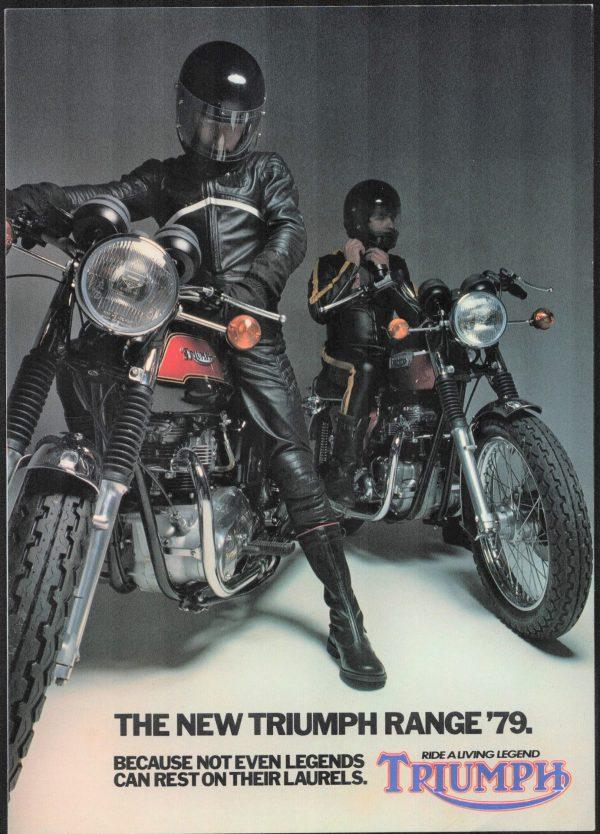 Triumph T140 Bonneville Brochure Tiger 750 UK and USA Models Motorcycle Brochure 1979 plus price list