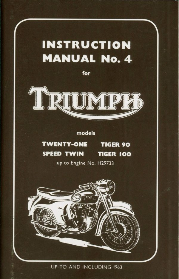Triumph Tiger 100 Tiger 90 Manual