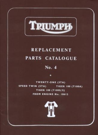 Triumph 350 500 Parts Book 1960-1962