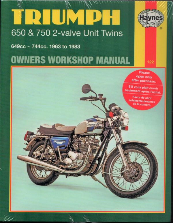 Triumph T120 and T140 Haynes Manual