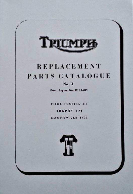 Triumph 650 Parts Book 4