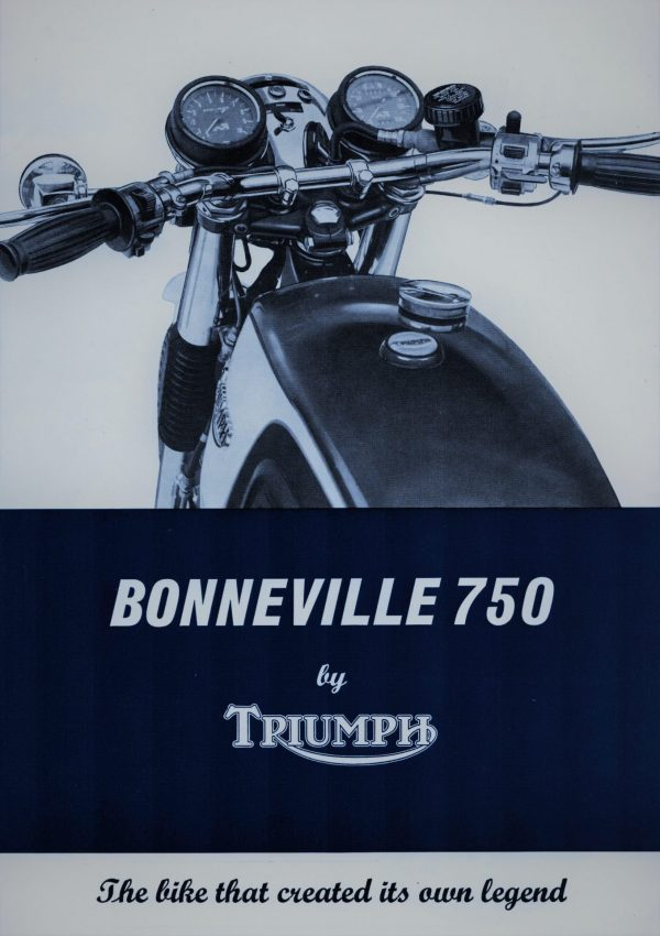 TRIUMPH Bonneville T140V 750 1976 Motorcycle Brochure Original New Old Stock