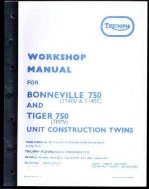 Triumph Workshop Manual 750 T140