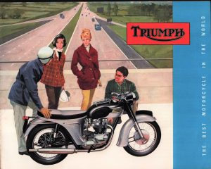 Triumph Motorcycle Brochure 1963 Original Literature