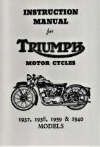 Triumph Motorcycles Instruction Book 1937-1940