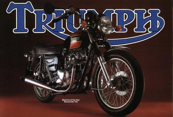 Triumph T140E Bonneville Brochure 1979