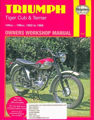 Triumph Haynes Workshop Manual Tiger Cob Terrier