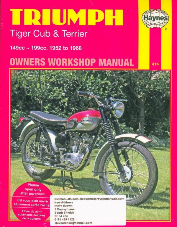 Triumph Haynes Workshop Manual Tiger Cob Terrier