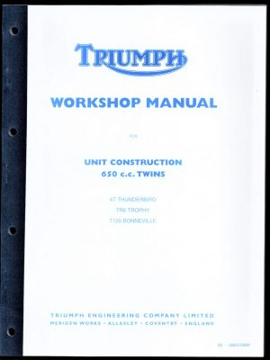 Triumph Workshop Manual 650 Bonneville Tiger Trophy