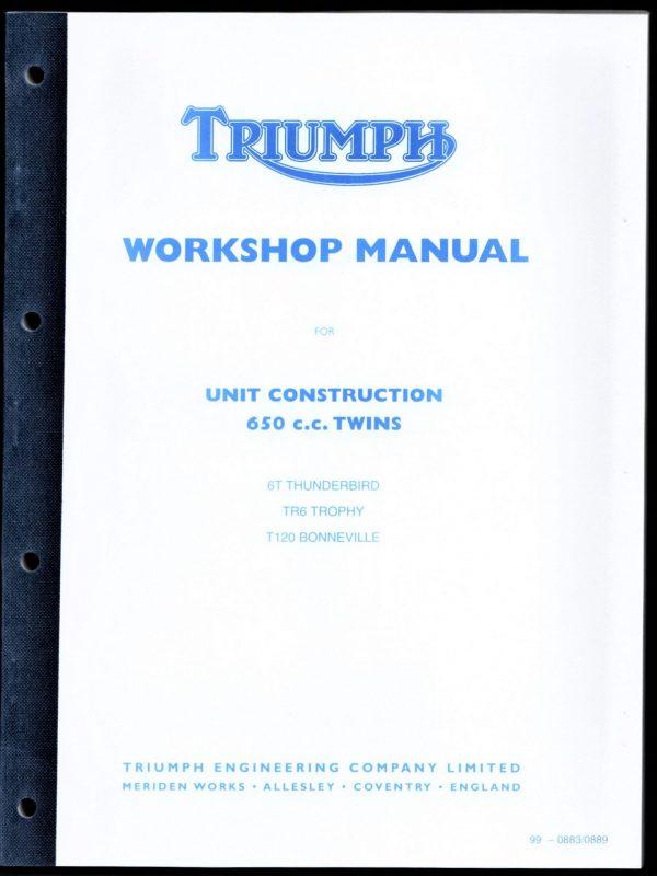Triumph Workshop Manual 650 Bonneville Tiger Trophy