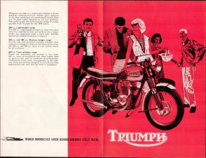 Triumph Motorcycle Original Brochure
