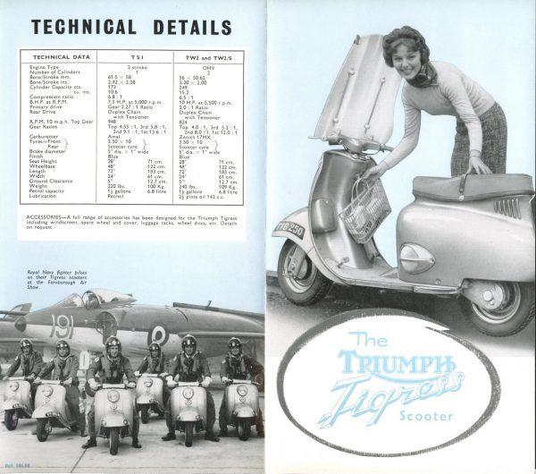 Triumph Brochure Tigress Scooter 175 Twin 250 Twin Original New Old Stock