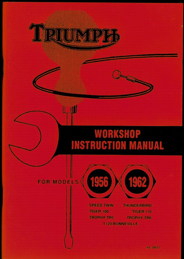 Triumph Workshop instruction Manual 650 Thunderbird T120 Bonneville T110 Tiger 100 Speed Twin