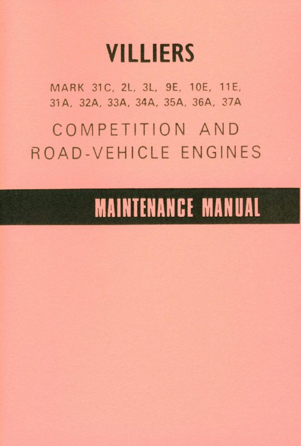 VILLIERS Engines Motorcycle Manual