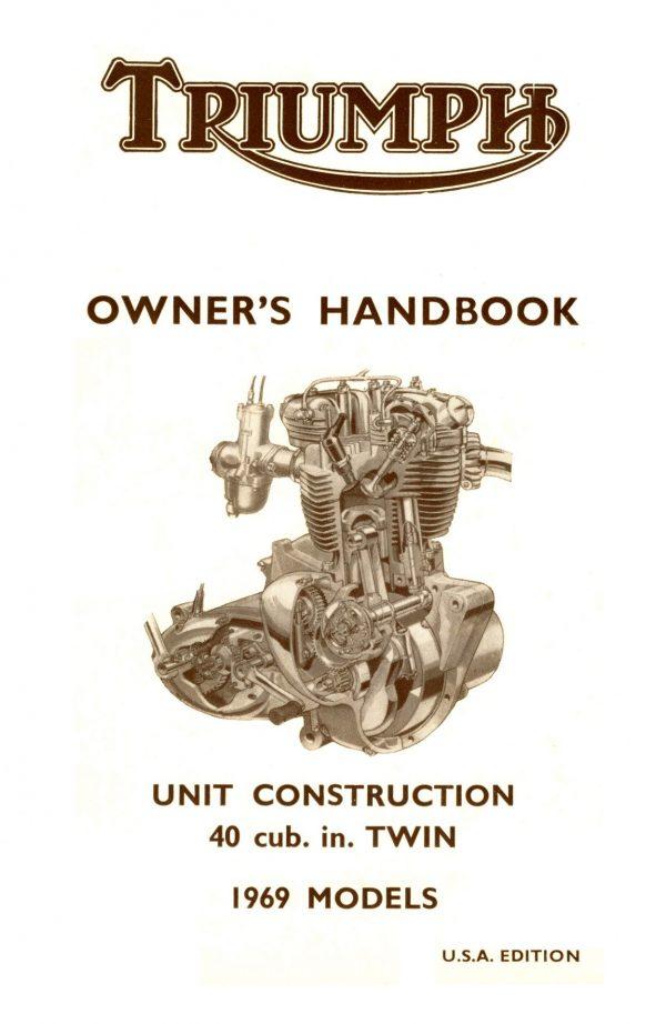 Triumph Bonneville Handbook 1969 USA