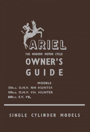 Ariel Red Hunter VB Manual 1954-1955
